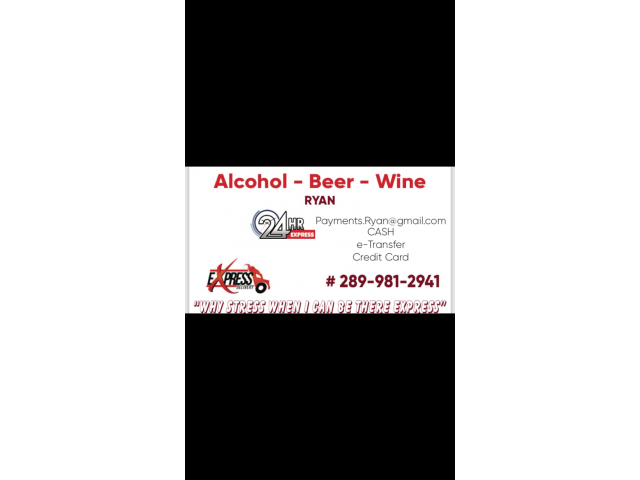 After hours alcohol delivery Toronto Ontario