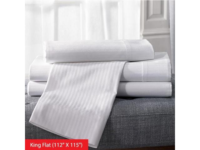 -250  White King Flat Extended Bed Sheets Toronto Ontario